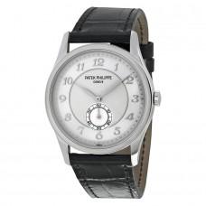 Patek Philippe Calatrava Automatico Silver esfera gris Platinum hombres Reloj 5196P-001