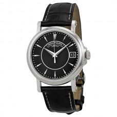 Patek Philippe Calatrava Marcar negro 18k Oro blanco negro Cuero hombres Reloj 5153G-001