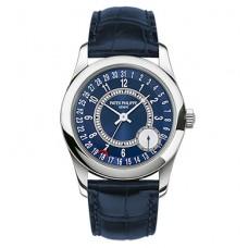 Patek Philippe Calatrava Esfera azul 18K Oro blanco Automatico hombres Reloj 6000G-012