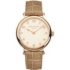 Patek Philippe Calatrava Cream Marcar 18k Oro rosa Senoras Reloj 7200R