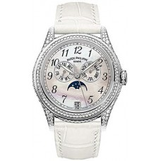 Patek Philippe Complicated 18kt Oro blanco Moon Phase Diamante Senoras Reloj 4937G