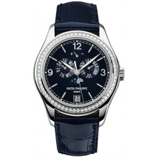 Patek Philippe Complications Annual Calendar Esfera azul Diamante 5147G-001