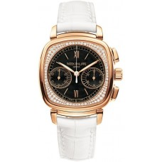 Patek Philippe Complications negro and Diamante Marcar Senoras Reloj 7071R-010