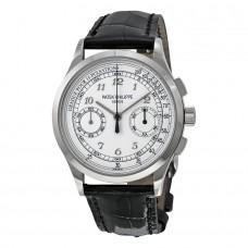 Patek Philippe Complications Chronograph Silvery esfera blanca hombres Reloj 5170G-001
