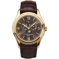 Patek Philippe Complications esfera gris 18kt Oro amarillo hombres Reloj 5146J-010