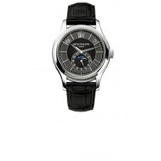 Patek Philippe Complications Mechanical negro and esfera gris hombres Reloj 5205G-010