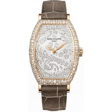 Patek Philippe Gondolo Mechanical Gold and Diamante Marcar Senoras Reloj 7099R-001