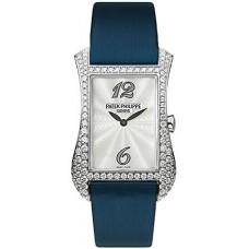 Patek Philippe Gondolo Serata 18kt Oro blanco Diamante Azul Senoras Reloj 4972G