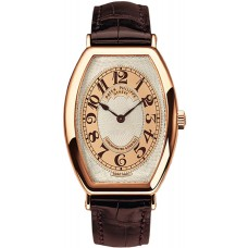 Patek Philippe Gondolo Silver esfera marron 18kt Oro rosa marron Cuero hombres Reloj 5098R