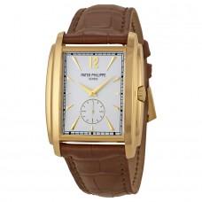 Patek Philippe Gondolo plata Oro amarillo Cuero hombres Reloj 5124J-001