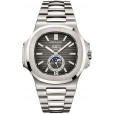 Patek Philippe Nautilus Mechanical Marcar negro Steel hombres Reloj 5726/1A-001