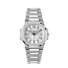 Patek Philippe Nautilus plata Senoras Reloj 7010/1G-001