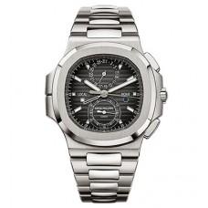 Patek Philippe Nautilus Travel Time Chronograph Automatico hombres Reloj 5990-1A-001