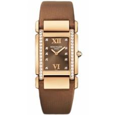Patek Philippe Twenty 4 Diamante esfera marron Oro rosa Senoras Reloj 4920R/001