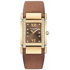 Patek Philippe Twenty-4 18kt Oro rosa Chocolate Strap Diamante Senoras Reloj 4920R