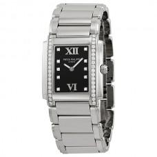 Patek Philippe Twenty-4 Marcar negro Steel Diamante Senoras Reloj 4910-10A-001