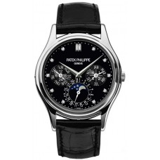 Patek Philippe Grand Complications negro Diamante Marcar Automatico hombres Reloj 5140P-013