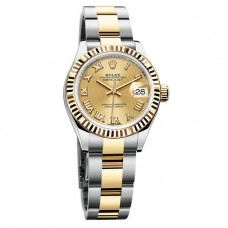 Réplicas Rolex Lady Datejust 279173SRJ Silver Dial Steel y reloj de oro amarillo 18K Jubileo