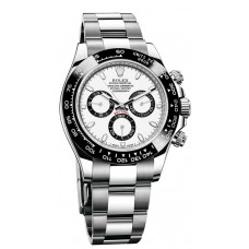 Réplicas Rolex Cosmograph Daytona 116500WSO esfera blanca reloj de acero inoxidable Oyster