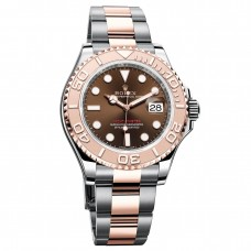 Réplicas Rolex Yacht-Master 116621CHSO Chocolate Marcar Acero y 18K Everose Gold Oyster Watch