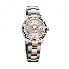 Réplicas Rolex Lady Datejust 279171SNRO Sundust Dial Steel y 18K Everose Gold Oyster Watch