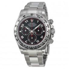 Réplicas Rolex Daytona RLX116509BKAO Negro árabe Dial Oyster Pulsera 18k oro blanco reloj