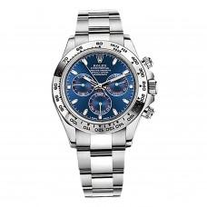 Réplicas Rolex Cosmograph Daytona 116509BLSO Dial negro reloj de acero inoxidable Oyster RLX116509BLSO