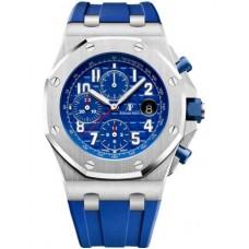 Réplica Audemars Piguet Royal Oak Offshore 26470 Acero inoxidable Indigo Rubber Reloj