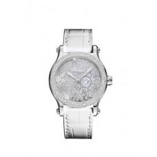 Réplica Chopard Happy Snowflakes 18K Oro blanco And Diamantes Limited Edicion Reloj
