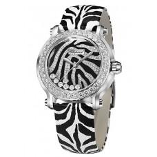 Réplica Chopard Happy Sport Zebra Edicion especial In Acero Oro blanco Diamante Bezel Reloj