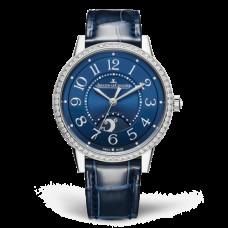 Réplica Jaeger-LeCoultre 3448480 Rendez-Vous Night & Day Medium Acero inoxidable/Azul/Alligator
