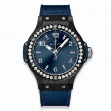 Réplica Hublot Big Bang Ceramic Azul Diamantes 38mm