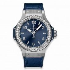 Réplica Hublot Big Bang Acero Azul Diamantes 38mm