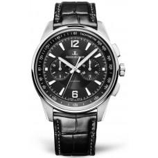 Réplica Jaeger-LeCoultre 9028470 Polaris Cronografo Acero inoxidable/Negro/Alligator
