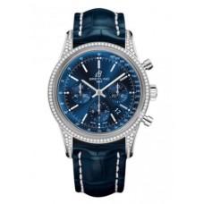 Réplica Breitling Transocean Cronografo Acero inoxidable Reloj
