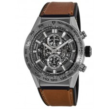 Réplica Tag Heuer Carrera Caliber Heuer 01 Skeleton 45mm hombre Reloj CAR2A8A.FT6072