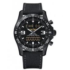 Réplica Breitling Chronospace Military NegroAcero Reloj