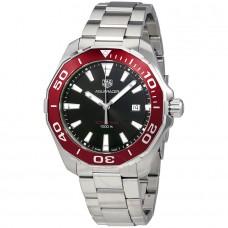 Réplica Tag Heuer Aquaracer Negro Dial Acero inoxidable Hombres Reloj WAY101B.BA0746
