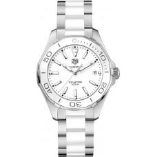Réplica Tag Heuer Aquaracer Blanco Dial Reloj de senoras WAY131B.BA0914