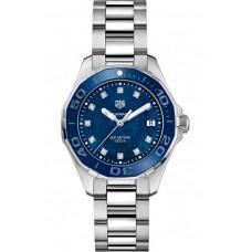 Réplica Tag Heuer Aquaracer Azul Madre perla Diamante Dial Reloj de senoras WAY131L.BA0748