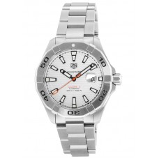 Réplica Tag Heuer Aquaracer Blanco Dial Automatico Hombres Acero inoxidable Reloj WAY2013.BA0927