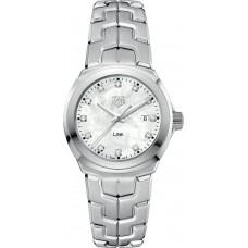 Réplica Tag Heuer Link Madre perla Diamante Dial Reloj de senoras WBC1312.BA0600