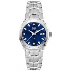 Réplica Tag Heuer Link Azul Diamante Dial Reloj de senoras WBC1318.BA0600