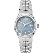 Réplica Tag Heuer Link Azul Madre perla Diamante Dial Reloj de senoras WBC1319.BA0600