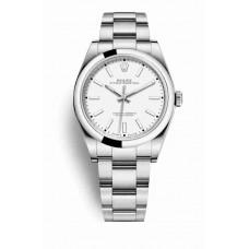 Réplica Rolex Oyster Perpetual 39 OysterAcero 114300 Blanco Dial Reloj