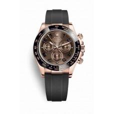 Réplica Rolex Cosmograph Daytona Everose oro 116515LN Chocolate Dial Reloj