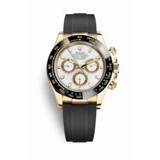 Réplica Rolex Cosmograph Daytona oro amarillo 116518LN Blanco Dial Reloj