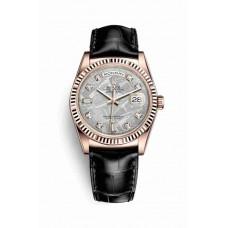 Réplica Rolex Day-Date 36 Everose oro 118135 Meteorite Diamantes Dial Reloj