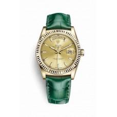 Réplica Rolex Day-Date 36 oro amarillo 118138 Champagne-colour Dial Reloj