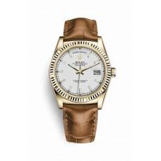 Réplica Rolex Day-Date 36 oro amarillo 118138 Blanco Dial Reloj